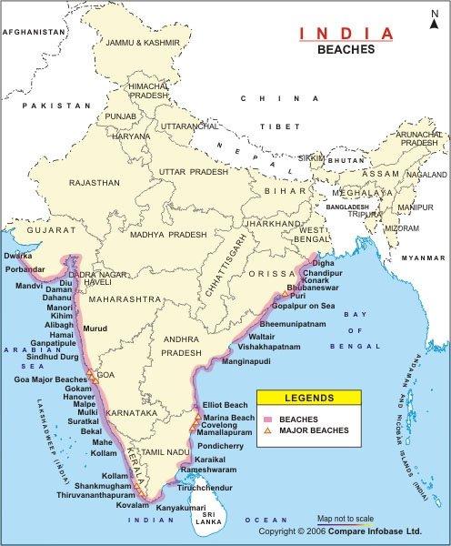 Пляжи Индии