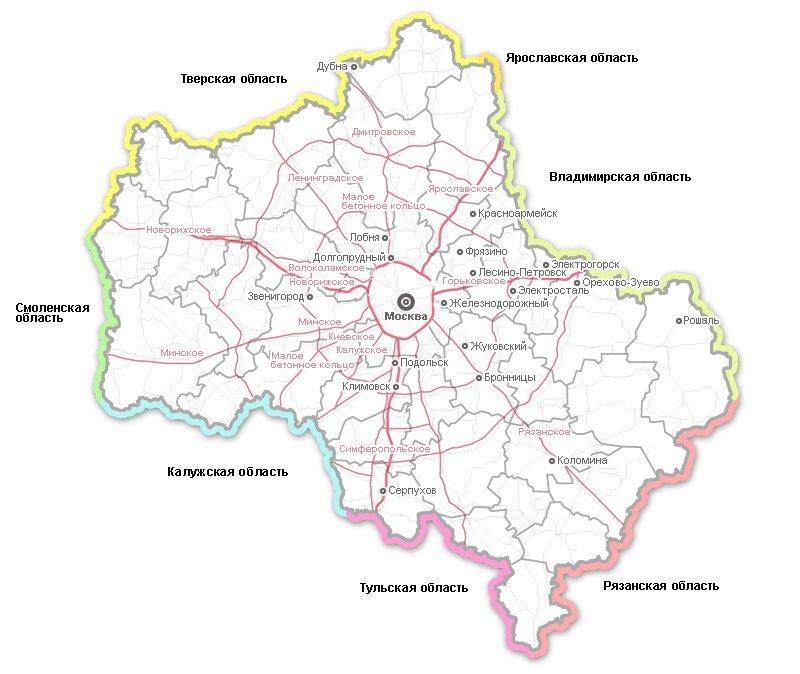 карта шоссе курорта