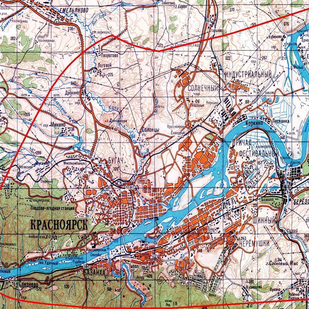 Подробная карта красноярска скачать