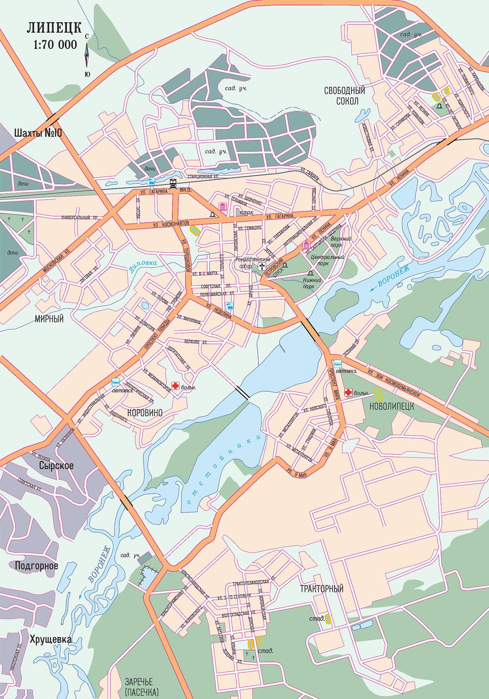 схема карта города красноярск