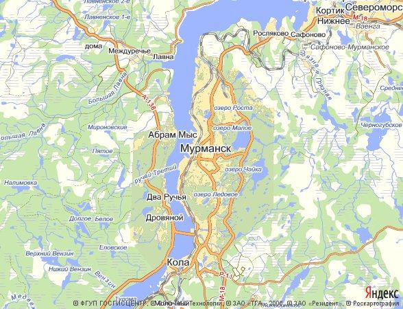 карта расположения города