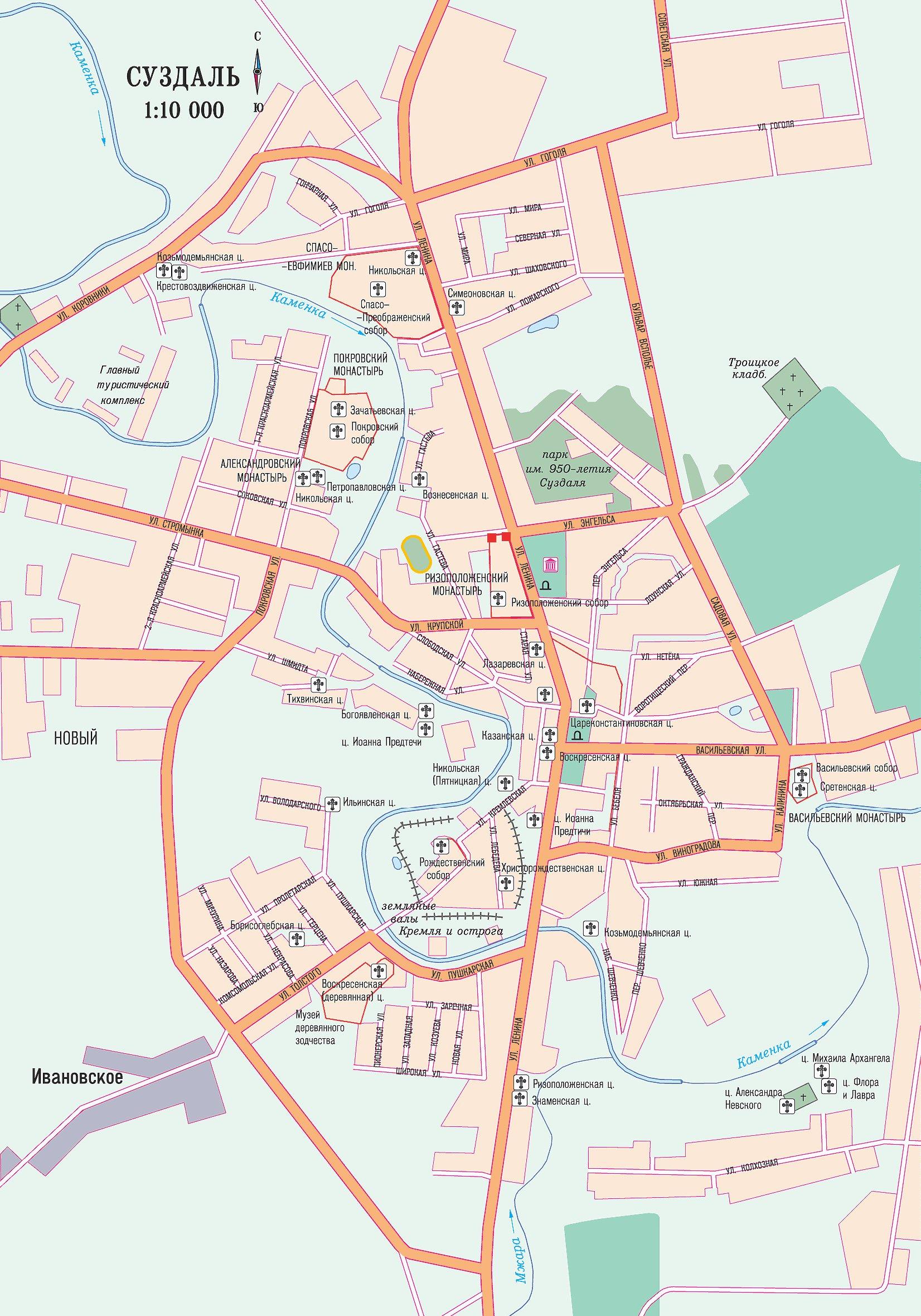 Домодедово Подробная карта с номерами домов