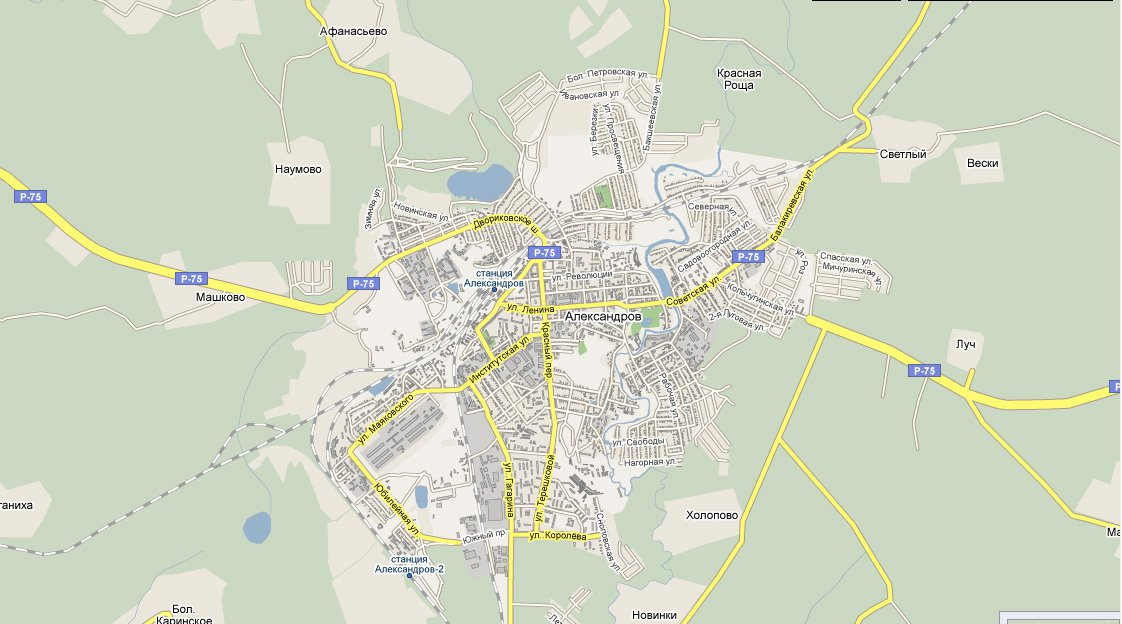 карта города Александров