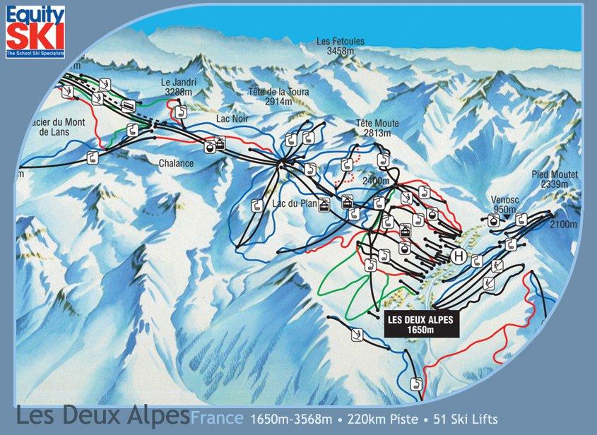 карта курорта Ле дез Альп