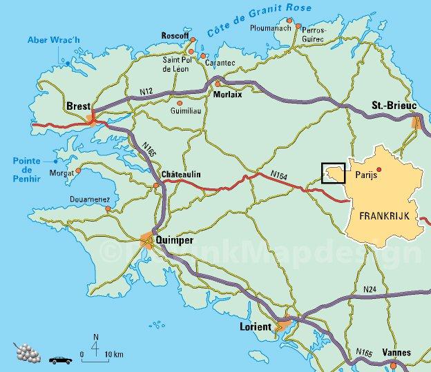 Карта курорта бретань