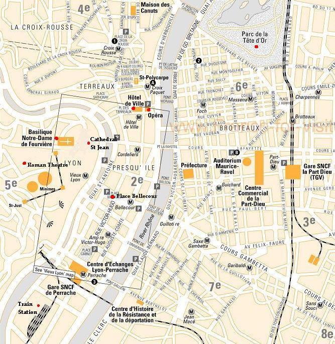 карта курорта Лион