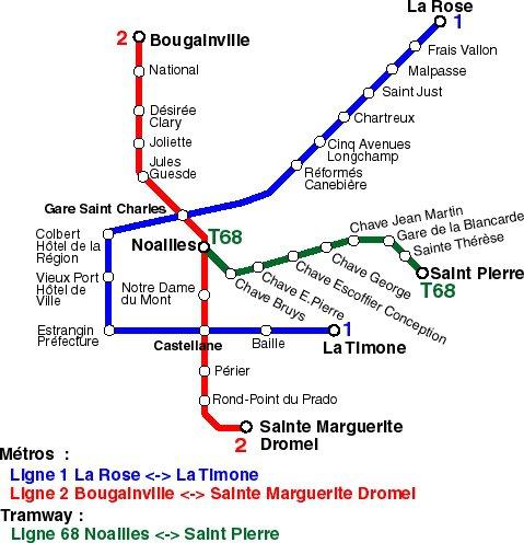 кара метро города Марсель