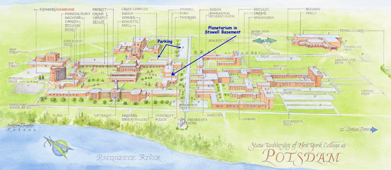 карта курорта Потсдам