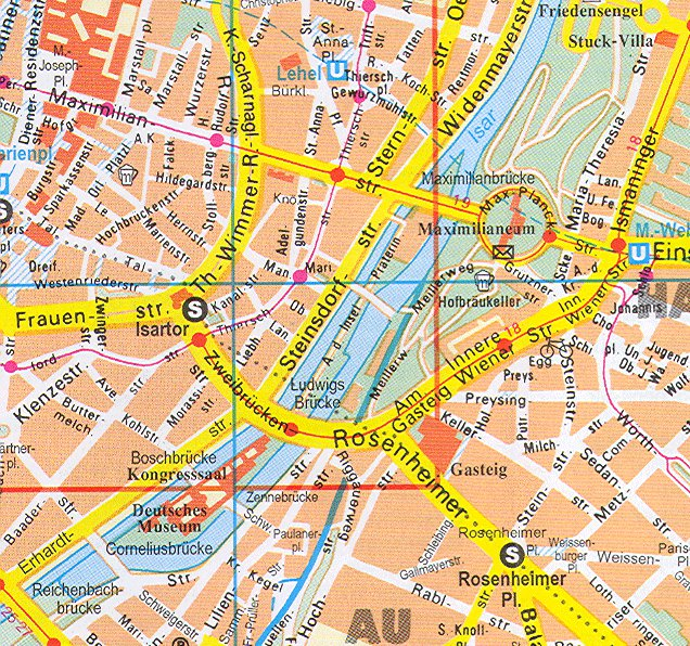 карта города Мюнхен