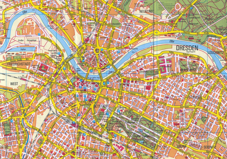 Карта города дрезден