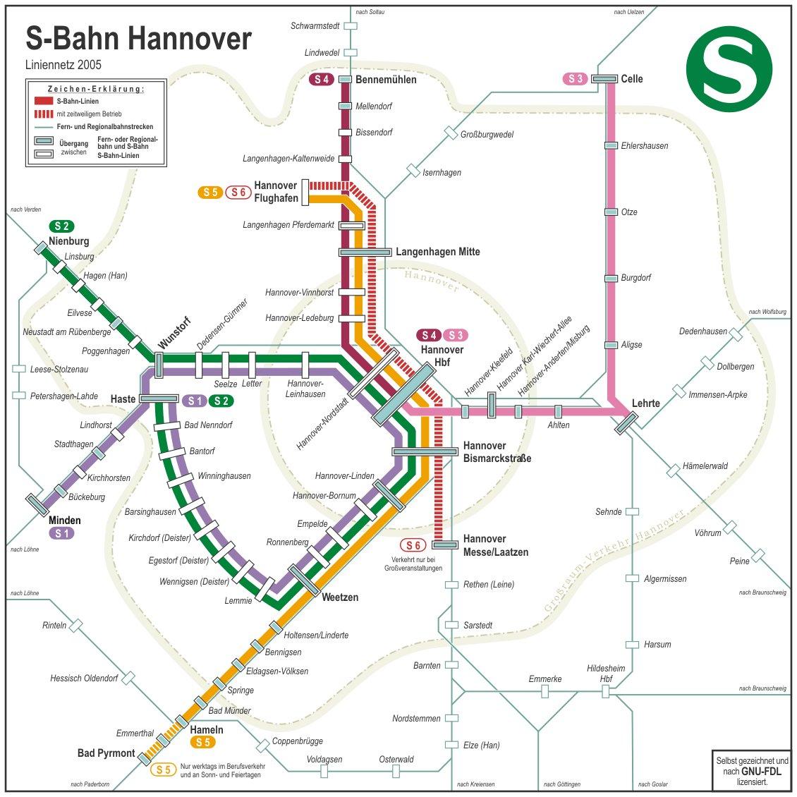 Карты Ганновера Германия Подробная карта Ганновера на