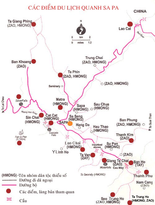 Карта региона Сапа