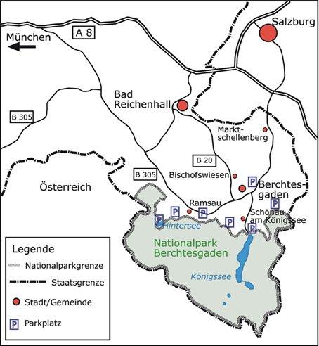 Карта города берхтесгаден
