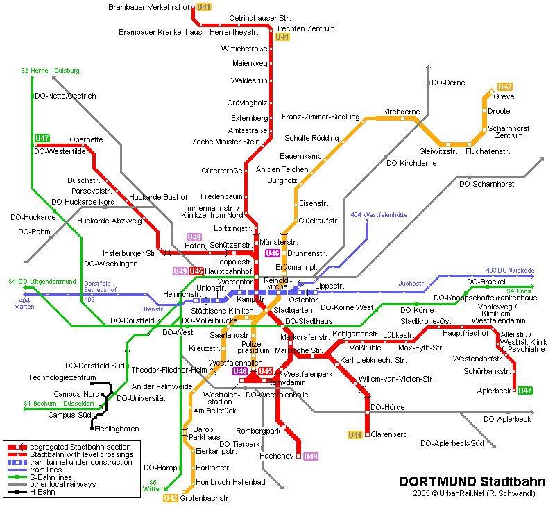 карта метро города Дортмунд