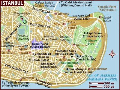 карта курорта Стамбул