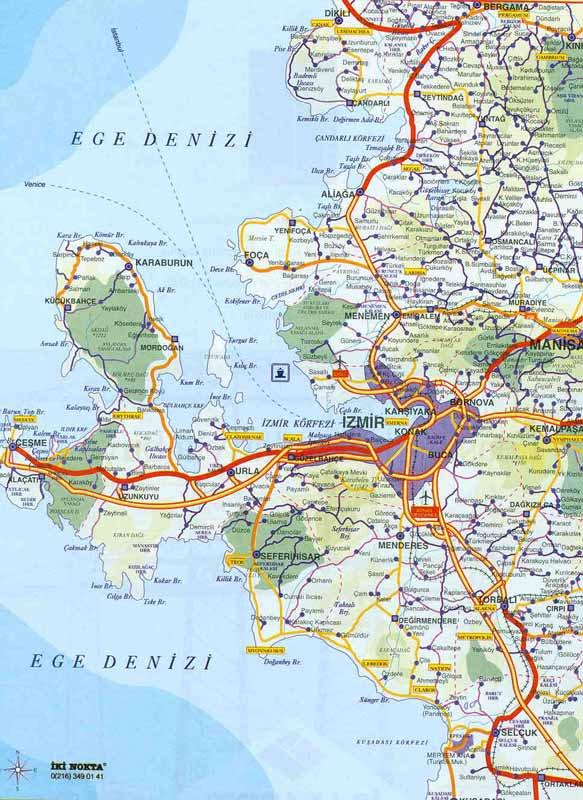 карта курорта Измир