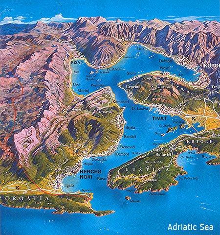 Карта курорта боко которская бухта
