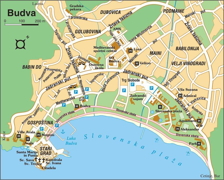 Карта будвы с улицами на русском языке скачать бесплатно