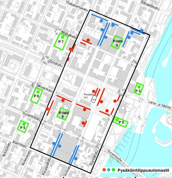 карта парковок курорта Йоэнсуу