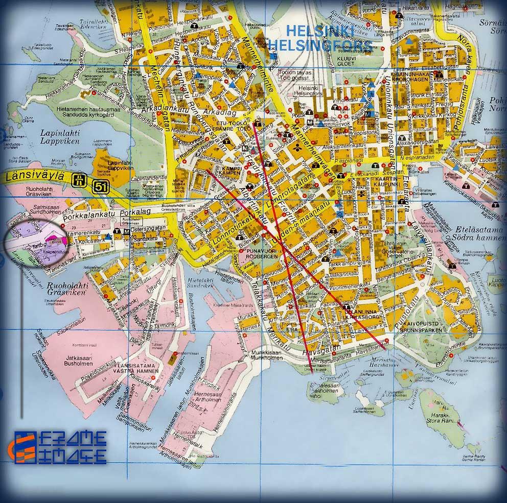 Карта города хельсинки карта центра