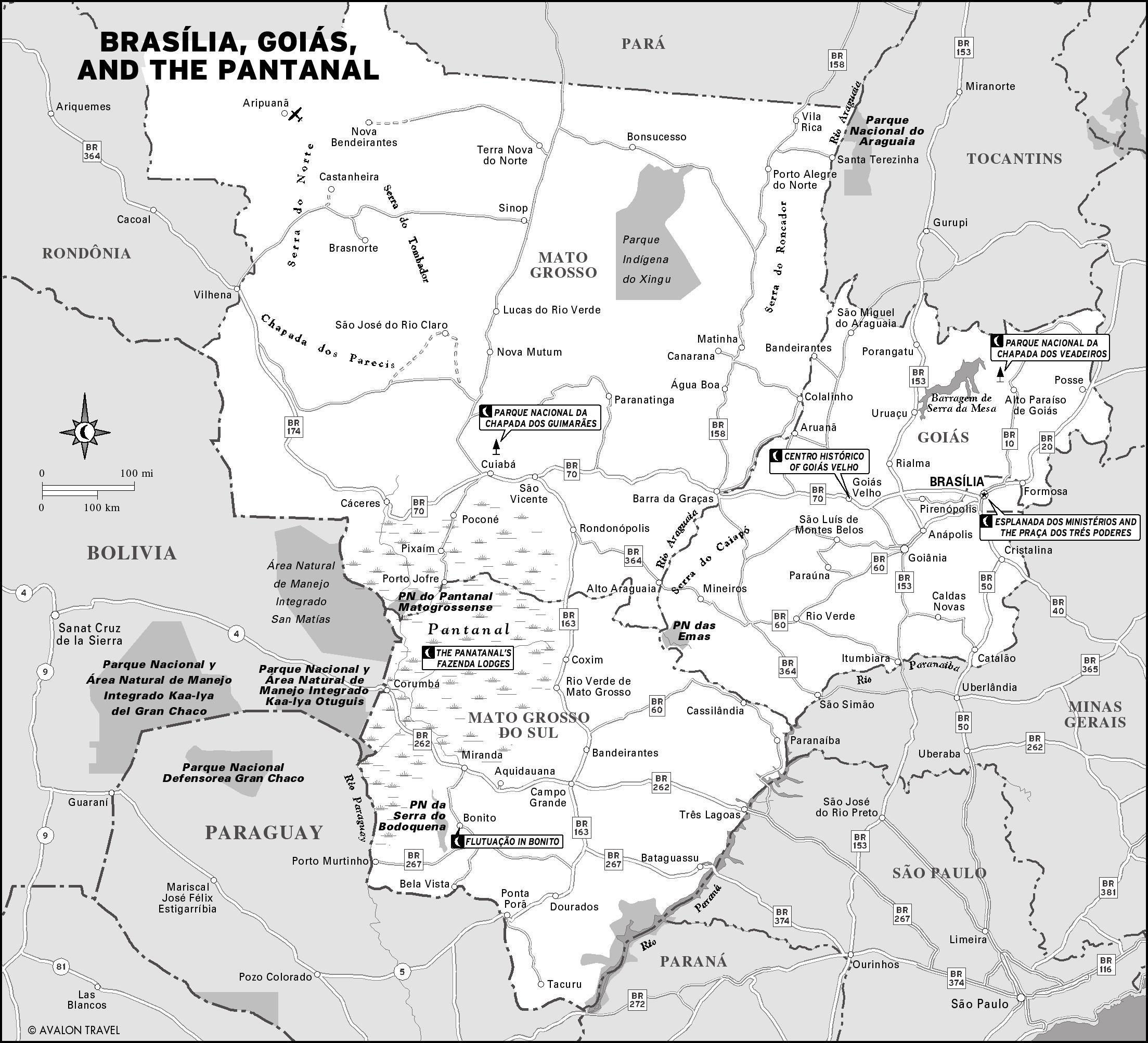 географическое расположение бразилия: