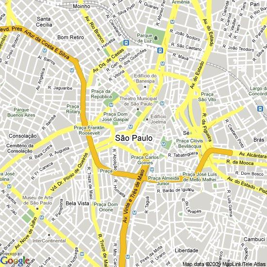 карта города Сан-Пауло