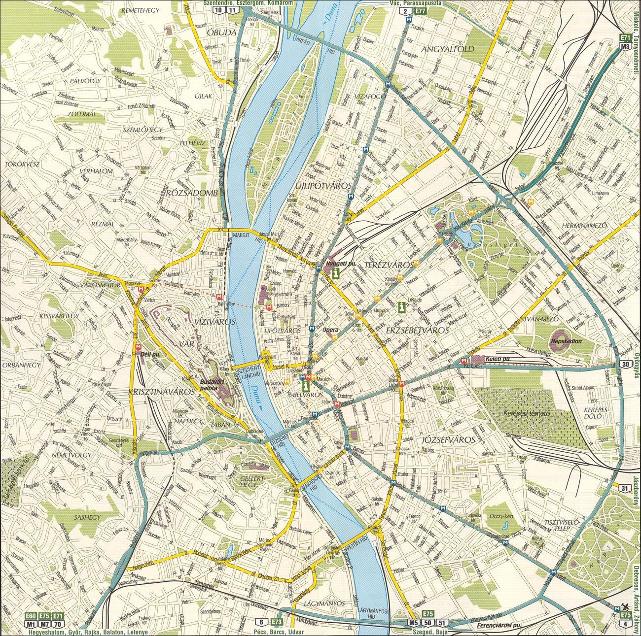 Подробная Карта Будапешта