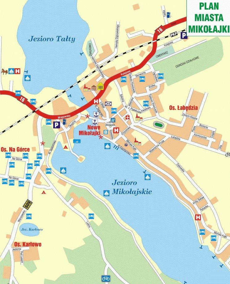 карта курорта Миколайки