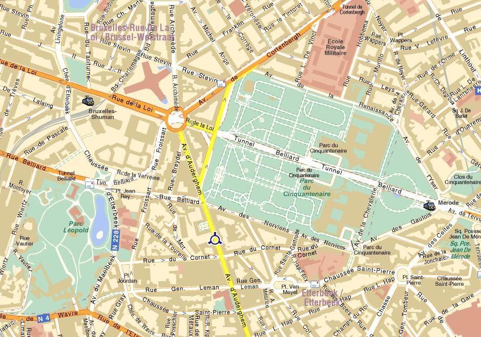 карта города Брюссель
