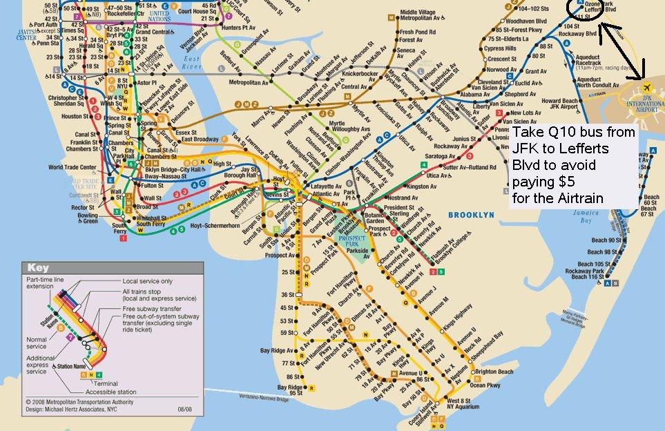 карта города Нью-Йорк
