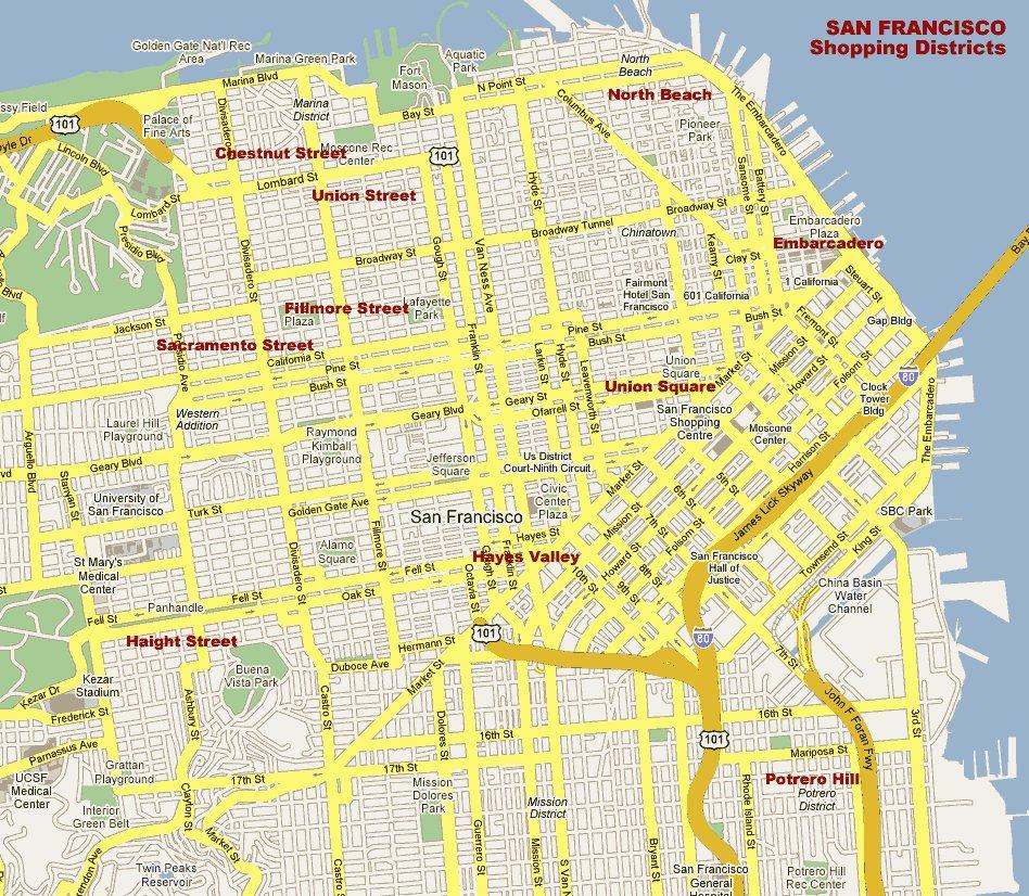 карта города Сан-Франциско