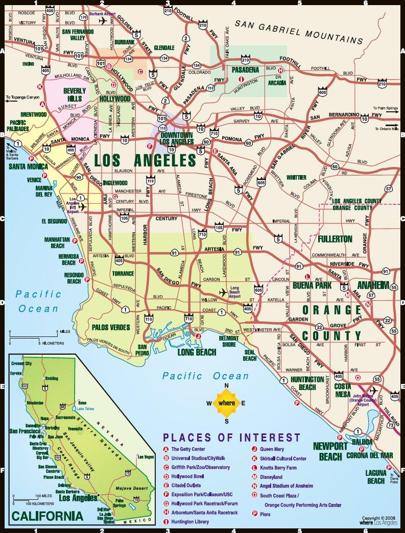 Карты лос анджелеса