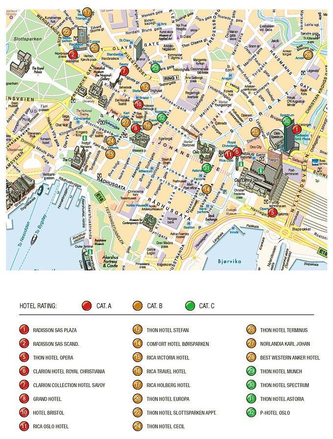 карта города Осло