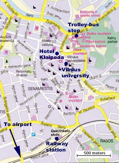 карта города Вильнюс