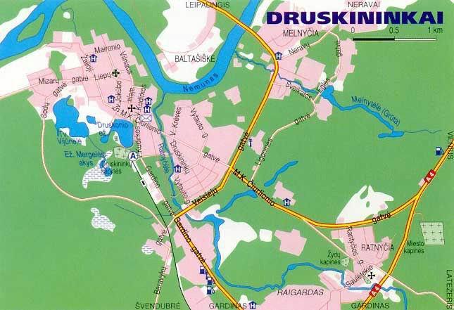 Карта Друскининкай