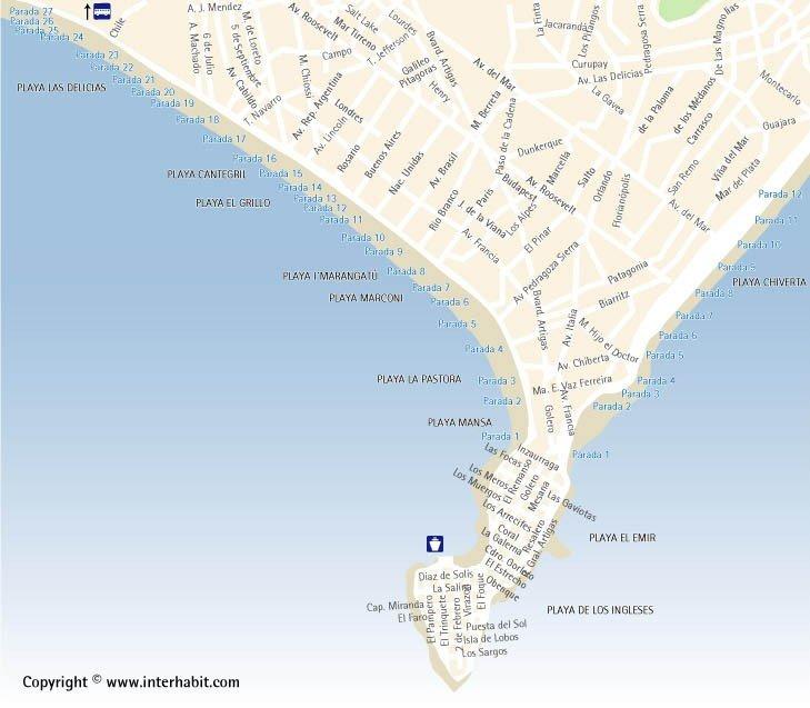 подробная карта курорта