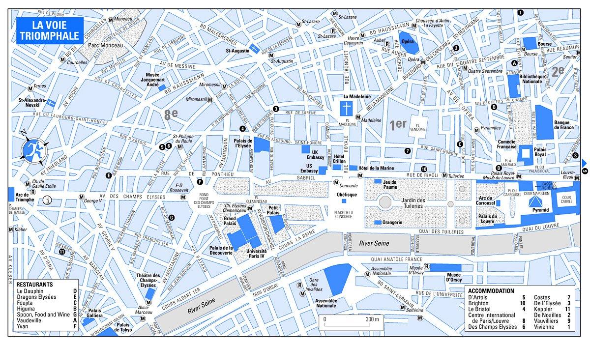 Елисейский дворец на карте