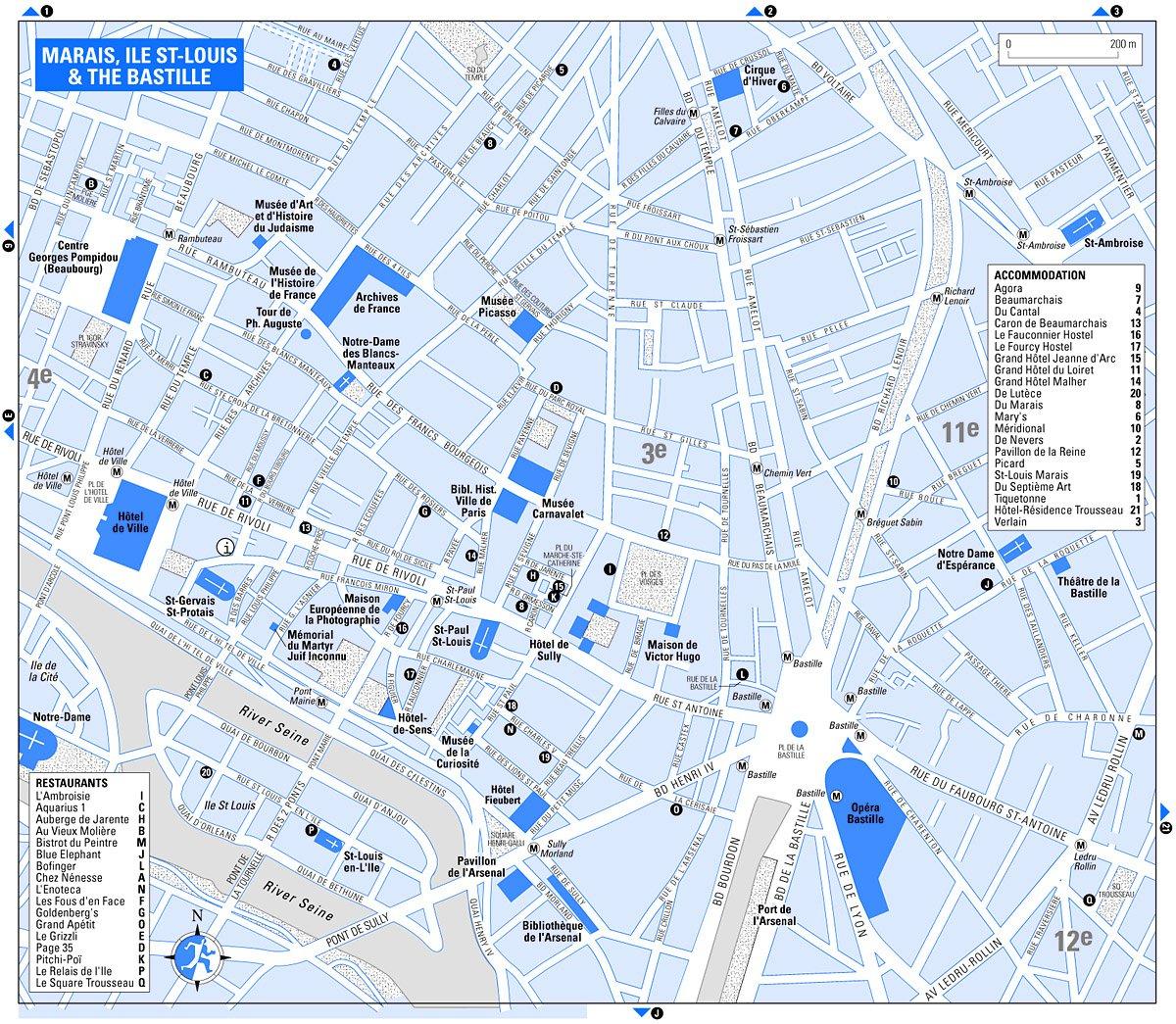 Карта схема района марэ площадь