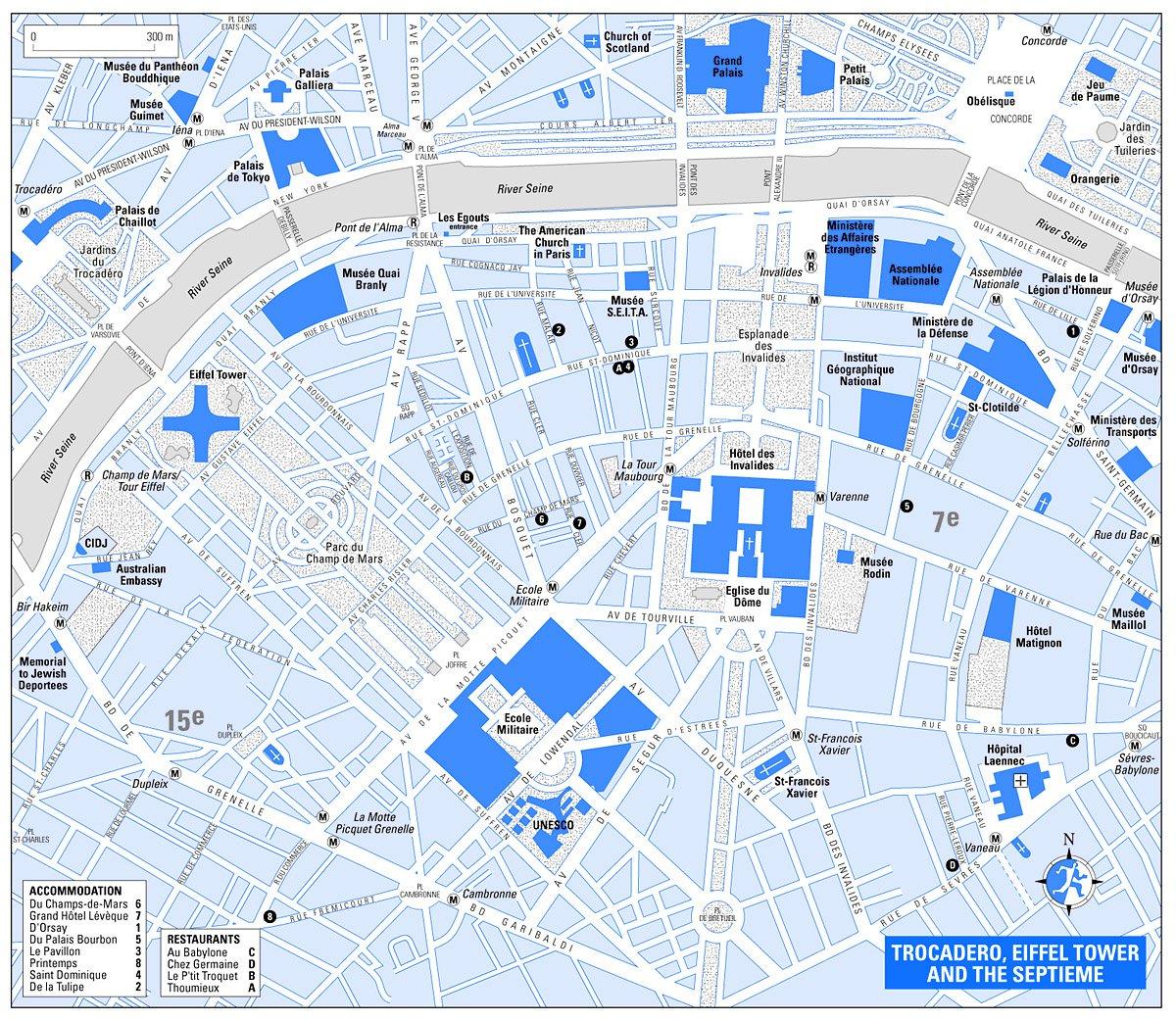 Карта парижа трокадеро эйфелева