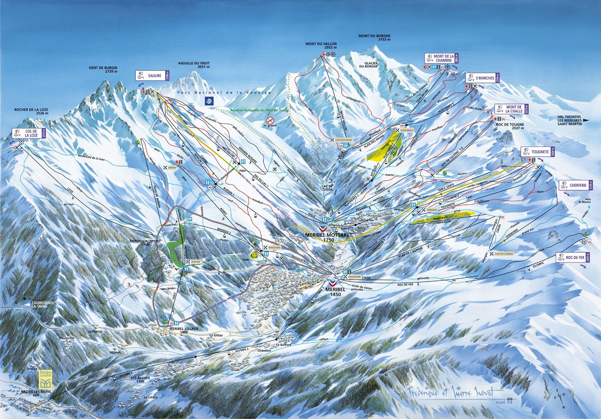 Карта курорта мерибель карта курорта