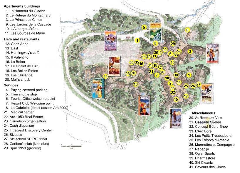 План-схема курорта.