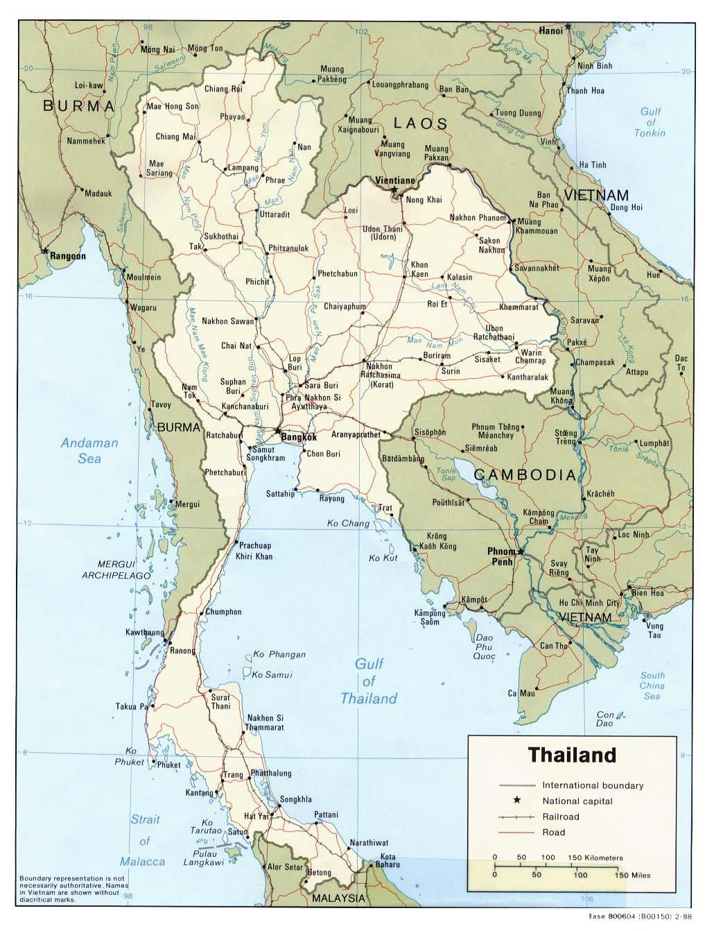 Карта тайланда с островами карта