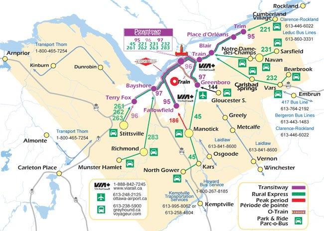 карта транспортных линий