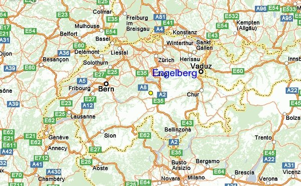 Карты Энгельберга Швейцария Подробная карта Энгельберга