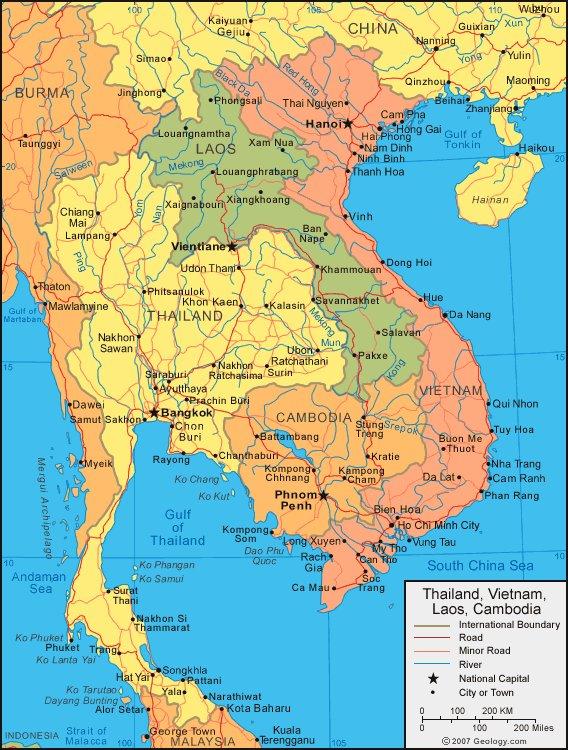 Карта лаоса карта лаоса карта
