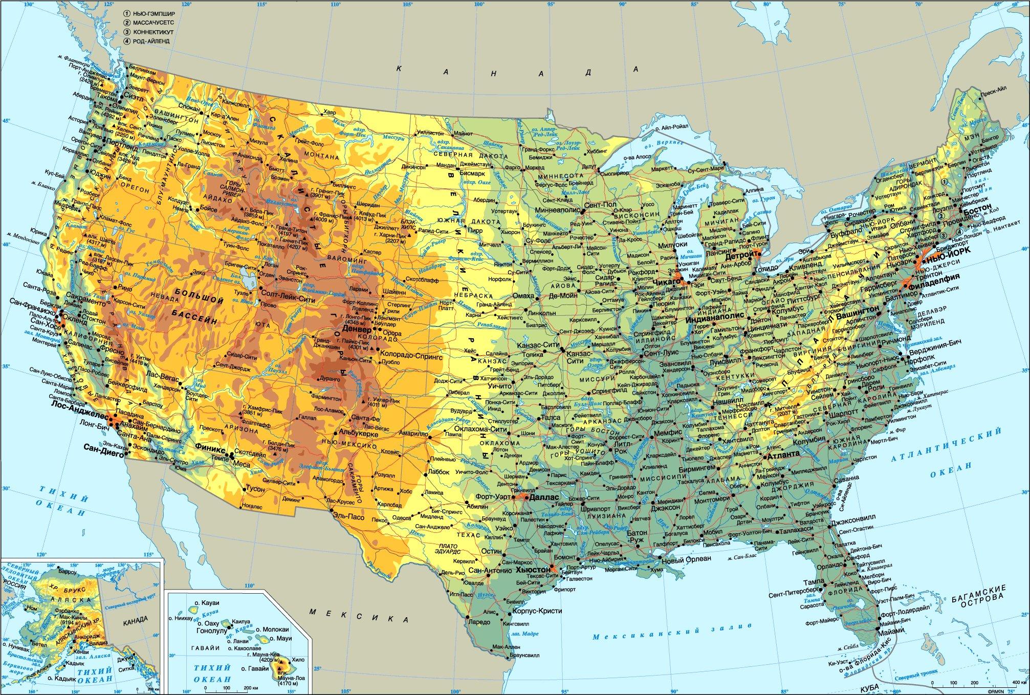 карта аляска фото