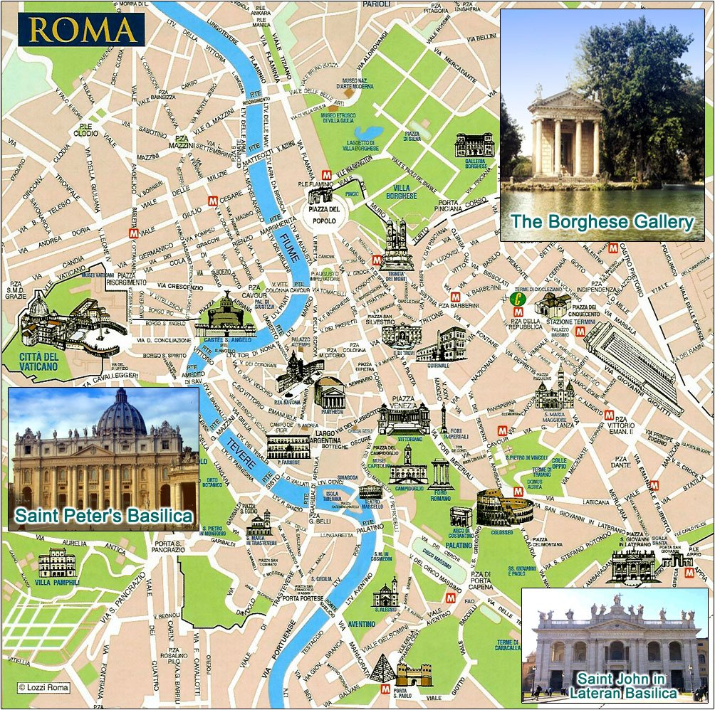 Туристическая карта рима карта