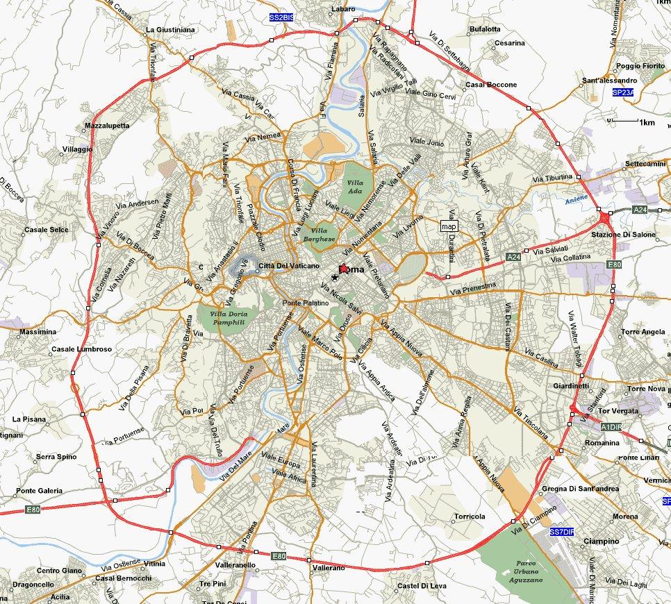 Карта Рима Скачать - фото 11