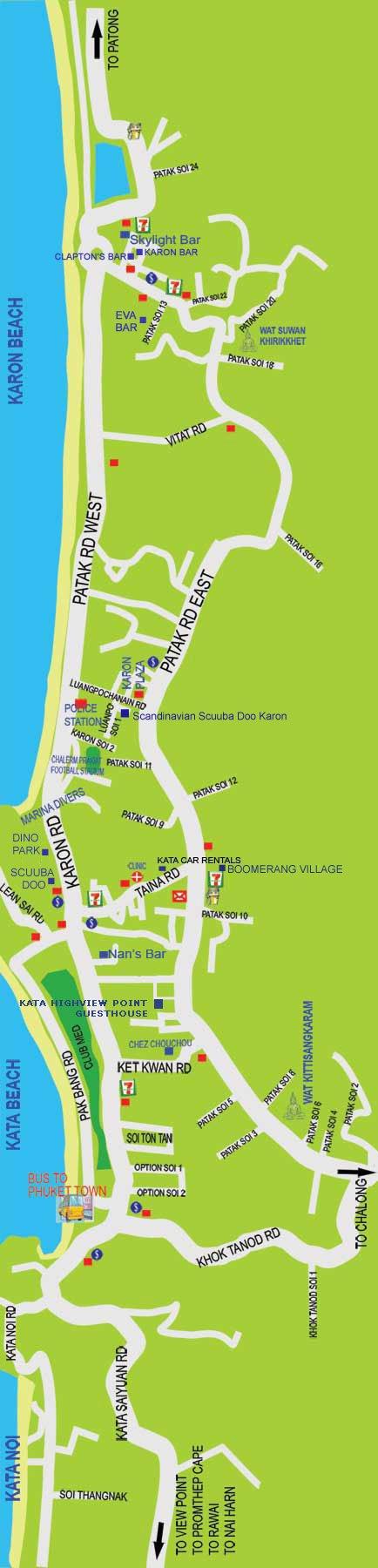 Карта пляжа Карон