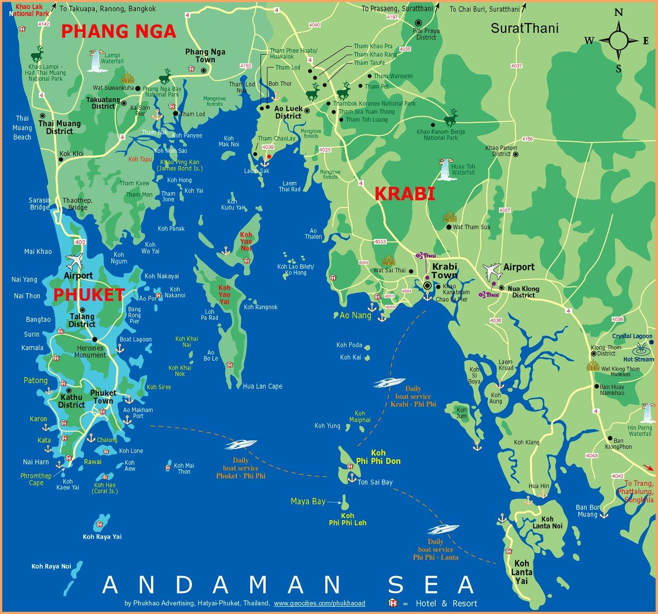 Карты тайланда
